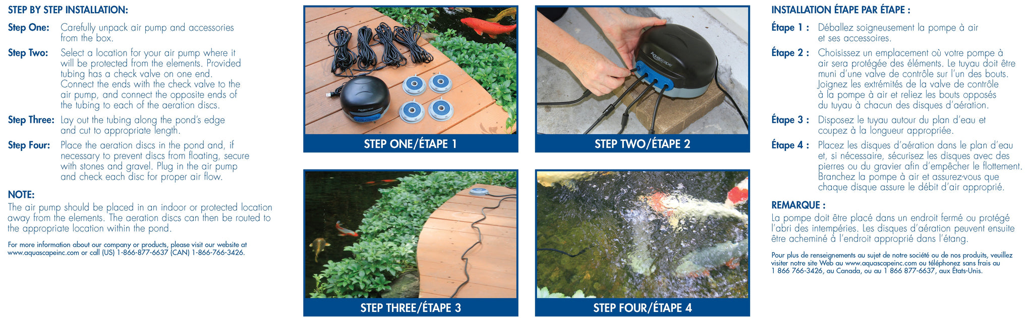 Pond Aerator Step by Step Installation Visual Guide