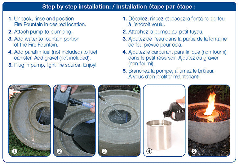 Step by Step Installation Instructions for Fire Fountain