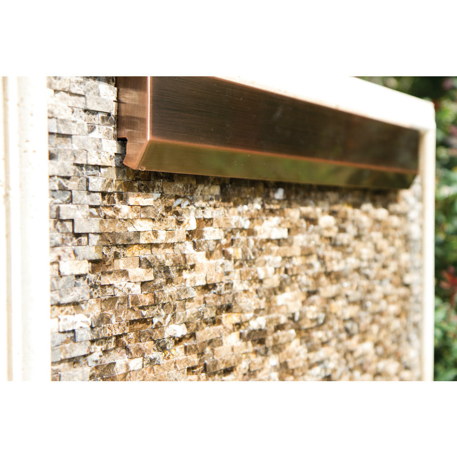 "Atlantic™ 24"" Copper Finish WaterWall Spillway - Main View"