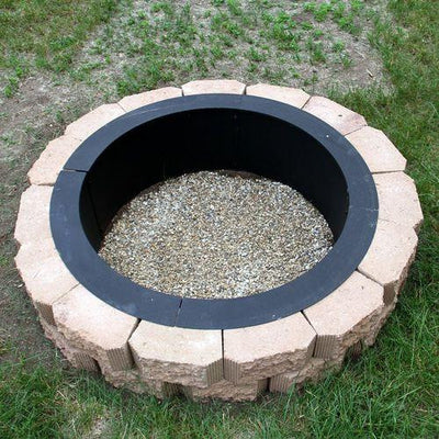 "Sunnydaze Decor - Sunnydaze 27"" Heavy Duty Fire Pit Rim - Inspired Fire and Water Features"