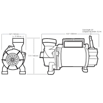 Aquascape 3-PL Solids Handling Pond Pump_Dimensions
