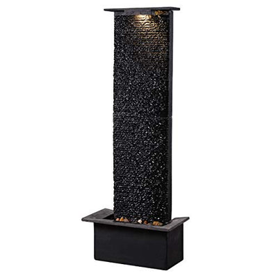 Kenroy Home 51035BLSL Alluvium Fountains, 48 Inch Height, Black Slate Finish