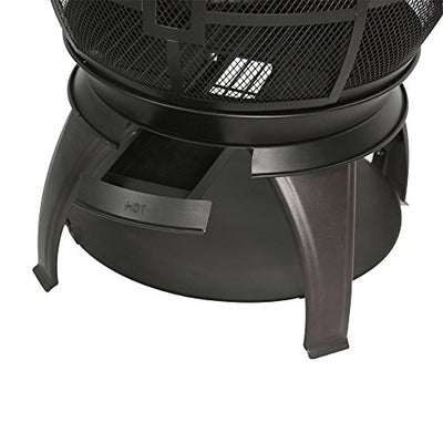 BALI OUTDOORS Outdoor Fireplace Wooden Fire Pit, Chimenea, Black
