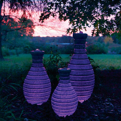 Atlantic® Color Changing Vase Fountain - Example Set of 3 - Purple