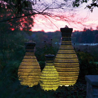 Atlantic® Color Changing Vase Fountain - Example Set of 3 - Yellowle