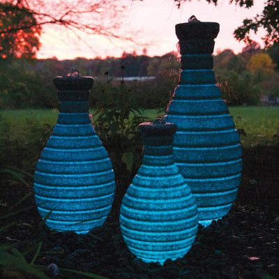Atlantic® Color Changing Vase Fountain - Example Set of 3 - Blue