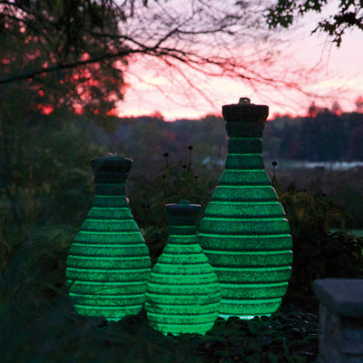 Atlantic® Color Changing Vase Fountain - Example Set of 3 - Green