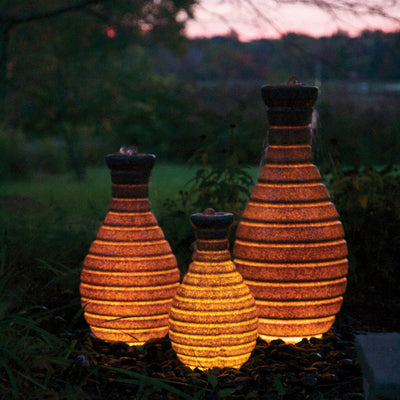 Atlantic® Color Changing Vase Fountain - Example Set of 3 - Orange