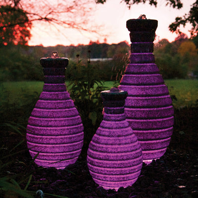 Atlantic® Color Changing Vase Fountain - Example Set of 3 - Pink