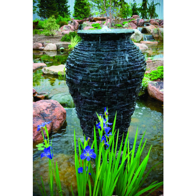 Aquascape® - Small Stacked Slate Urn Fountain - Inspired Fire and Water Features