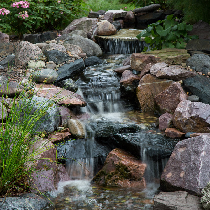 Full Package View-Small Pondless Waterfall with up to 6' Stream by Aquascape