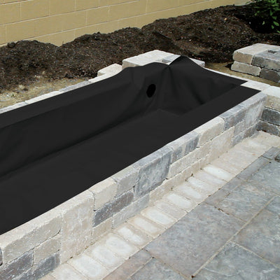 8' Flexible Hardscape Basin - Black - Right Side View