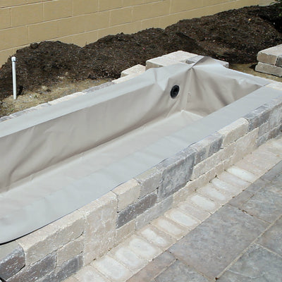 4' Flexible Hardscape Basin - Grey - Right View