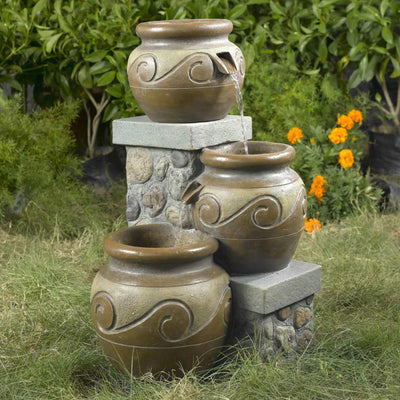 Venice Multi Pot Outdoor/Indoor Fountain - Outside View