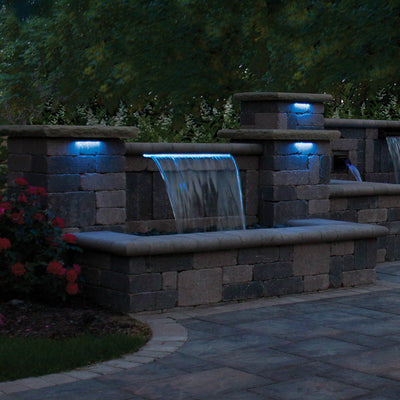 "Atlantic™ 12"" Color Changing Hardscape Light - Night View Left"