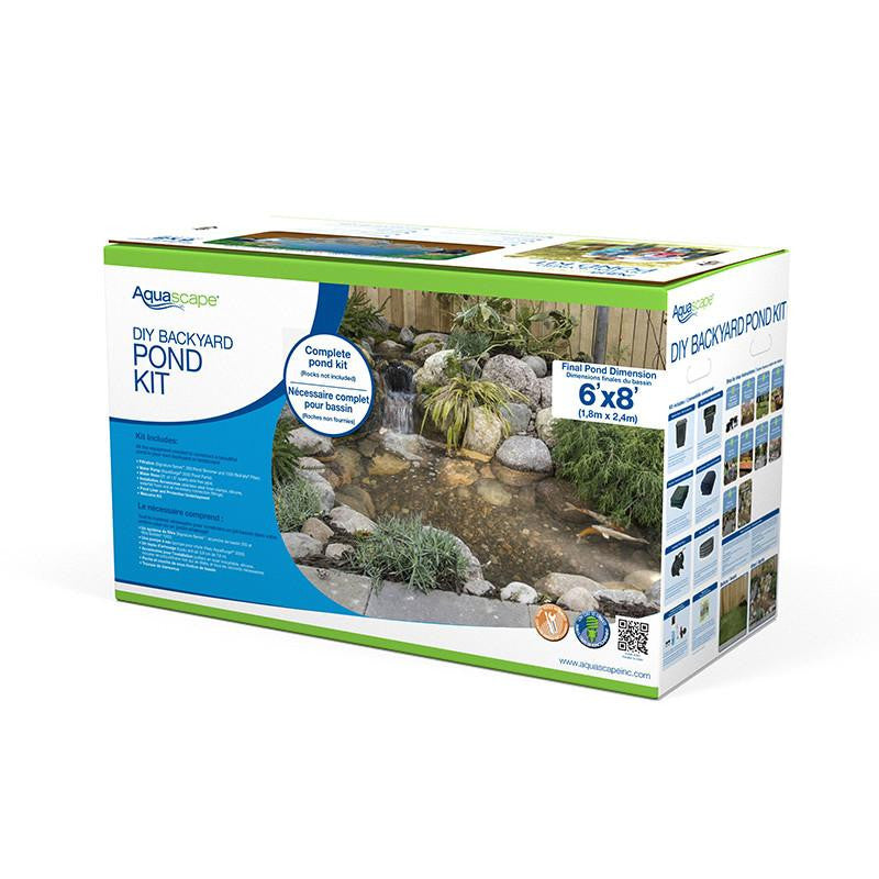 Full View-DIY Backyard Pond Kit by Aquascape