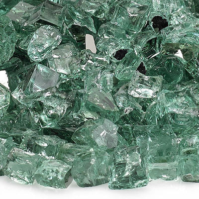 American Fire Glass™ - American Fireglass 1/2 Inch Evergreen Premium Fire Glass 10lbs - Inspired Fire and Water Features