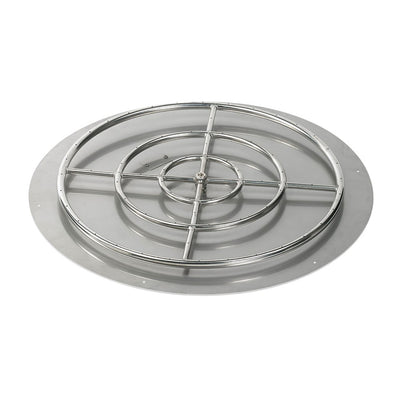 "American Fireglass 36 Inch Round Stainless Steel Flat Pan with S.I.T. System (30"" Ring) - Propane - Fire Pan and Fire Ring"