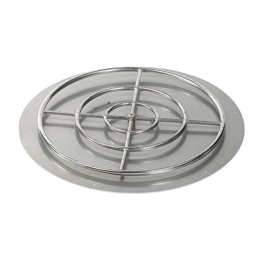 "American Fireglass 36 Inch Round Stainless Steel Flat Pan with S.I.T. System (30"" Ring) - Propane"
