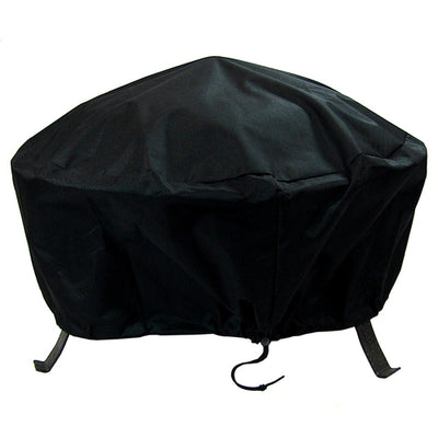 "30"" Heavy Duty Black Round Fire Pit Covers"