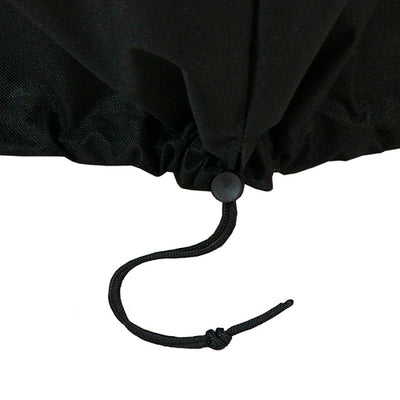 "30"" Heavy Duty Black Round Fire Pit Covers - Close up Toggle Drawstring"