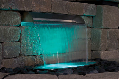Atlantic™ - 304 Stainless Steel Spillway - Turquoise Color Changing