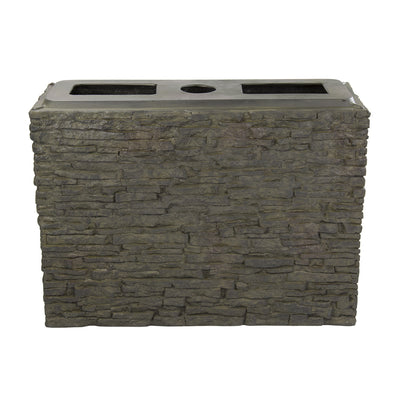 Aquascape® Large Straight Stacked Slate Wall Base_Front_View