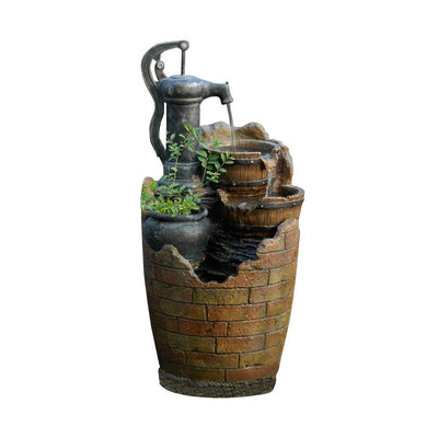 Jeco Inc Glenville Water Pump Cascading Outdoor Water Fountain