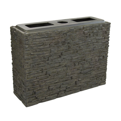 Aquascape® Large Straight Stacked Slate Wall Base_Angle View