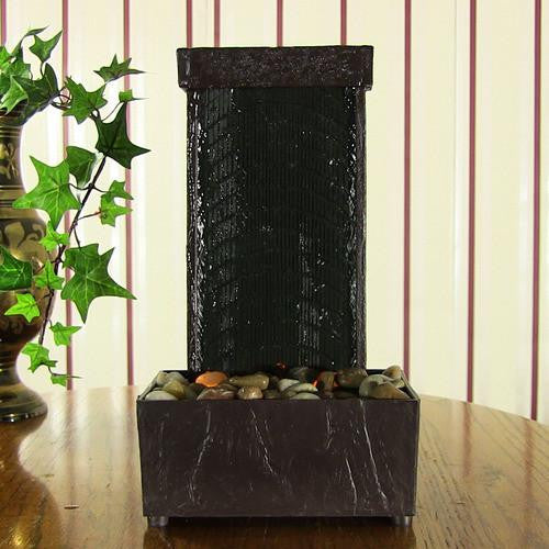 Lighted Stream Tabletop Fountain with LED Lights by Sunnydaze Decor