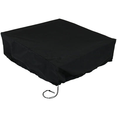 "36"" Square x 12"" Tall Black Fire Pit Cover"