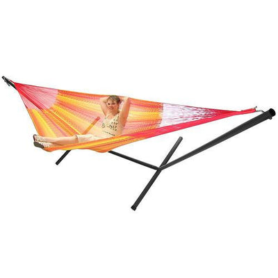 Sunnydaze Decor - Sunnydaze Family Mayan Hammock and Stand Combo - Tequila - Inspired Fire and Water Features
