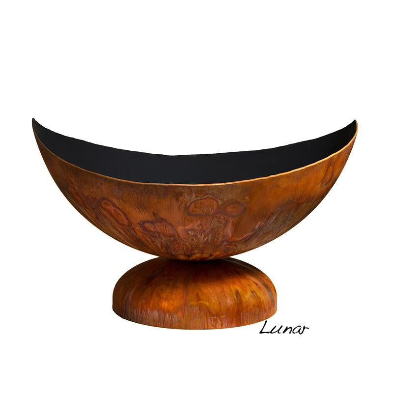 "Ohio Flame 30"" Lunar Artisan Fire Bowl - OF30ABLU- Front View"