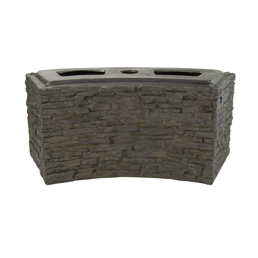 Aquascape® Small Curved Stacked Slate Wall Base
