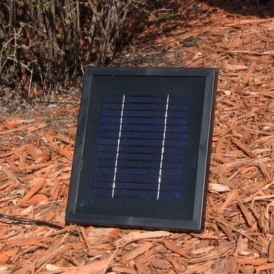 Florence Solar-On-Demand Outdoor Wall Fountain - Weathered Iron - Solar Panel