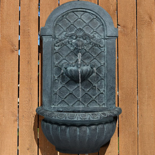 Sunnydaze Venetian Outdoor Wall Fountain - Lead