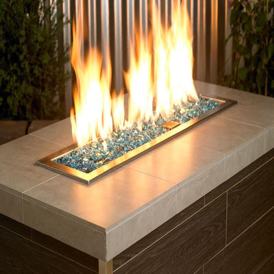 American Fire Glass™ - 1/4 Inch Azuria Reflective Fire Glass 10lbs - Inspired Fire and Water Features