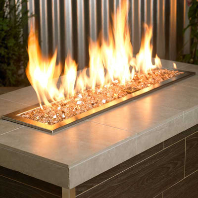 American Fireglass 1/4 Inch Champagne Reflective Fire Glass 10lbs - Fireplace Burner