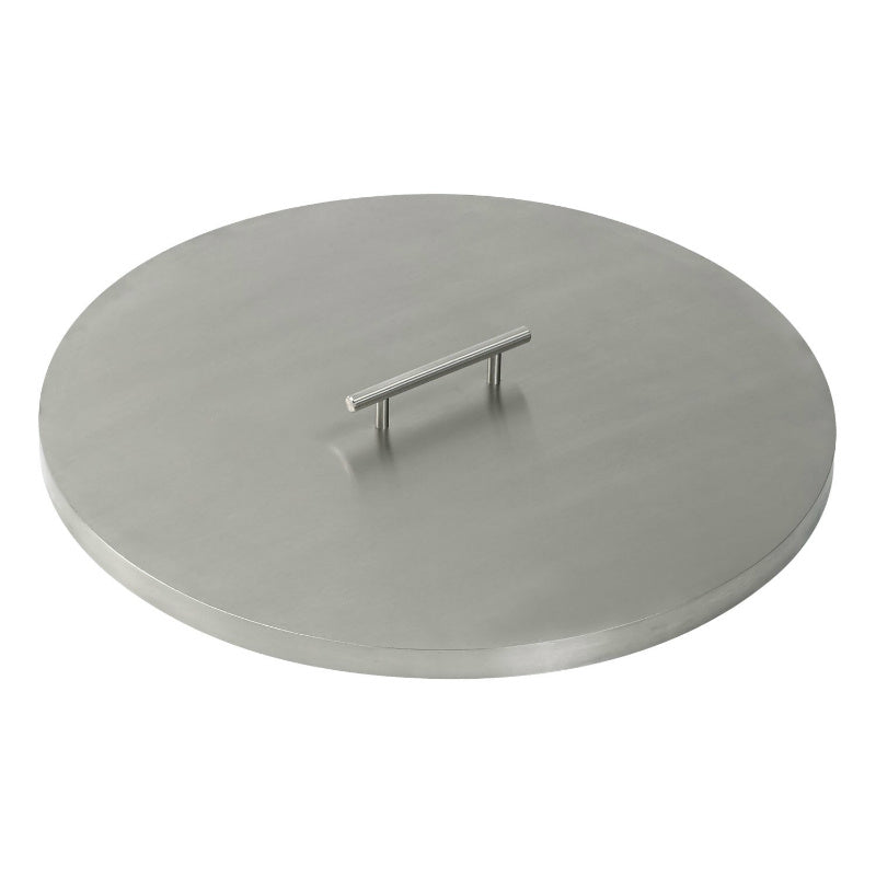 "Stainless Steel Cover for 19"" Round Drop-In Fire Pit Pan"