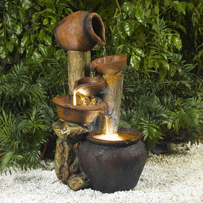 Jeco Pentole Pot Indoor/Outdoor Fountain - Outside View