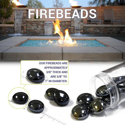 American Fire Glass™ - American Fire Glass™ 1/2 Inch Apricot Fire Beads - Inspired Fire and Water Features