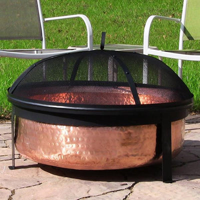 Sunnydaze Decor - Sunnydaze Hammered Copper Fire Pit - Inspired Fire and Water Features