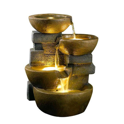 Jeco Pots Water Fountain with LED Light - Main View
