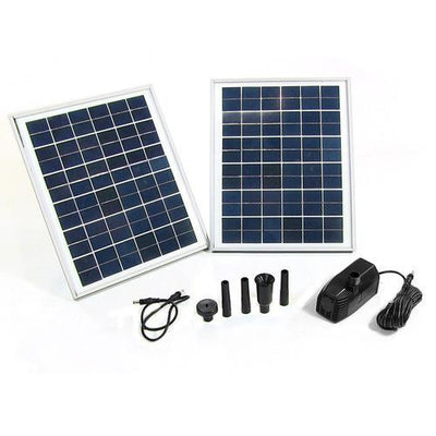 "Sunnydaze Decor - Sunnydaze Decor Solar Pump and Solar Panel Kit with 118"" Lift - Inspired Fire and Water Features"
