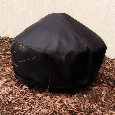 "30"" Heavy Duty Black Round Fire Pit Covers - Outside View"