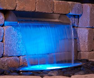Glowing Colorfalls Displays Splash Ring for Basin Kit