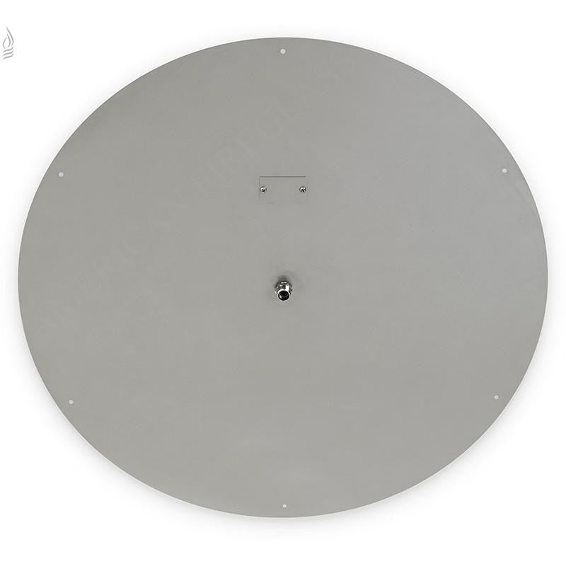 "36"" Round Stainless Steel Flat Pan (1/2"" Nipple) - Main View"