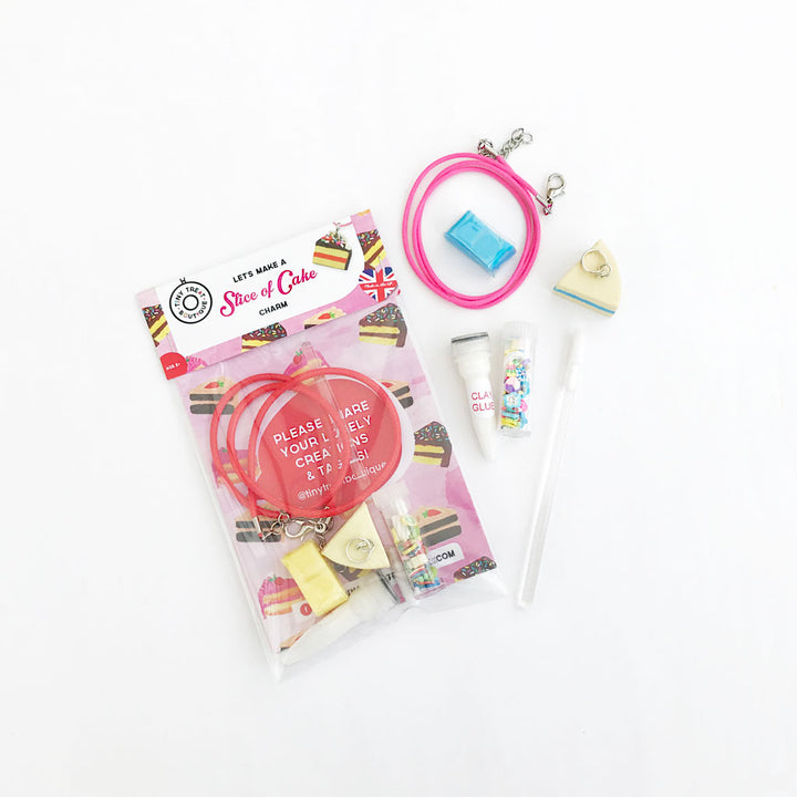 Slice of Cake-Themed Jewellery Mini Kit