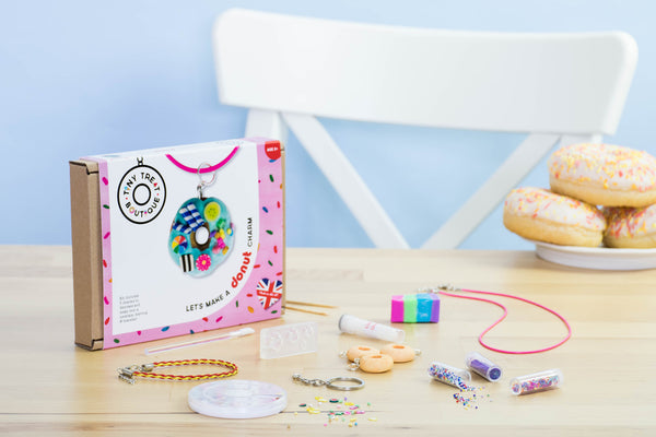 Donut-Themed Jewellery Craft Kit (Makes 3 Items)