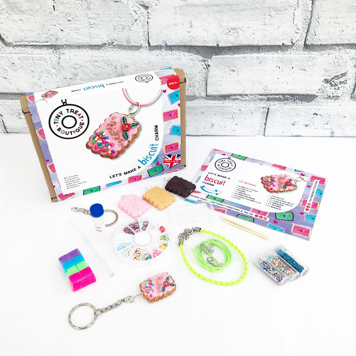Biscuit-Themed Jewellery Craft Kit (Makes 3 Items)